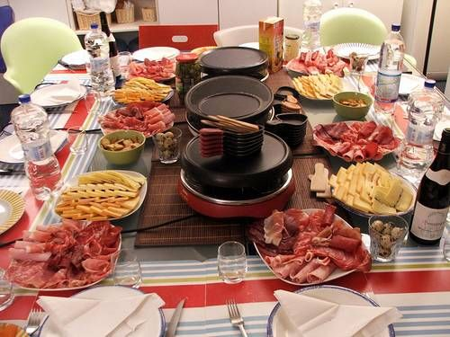 Getting ready for a raclette party. #raclette-recipes #tabletop-cooking