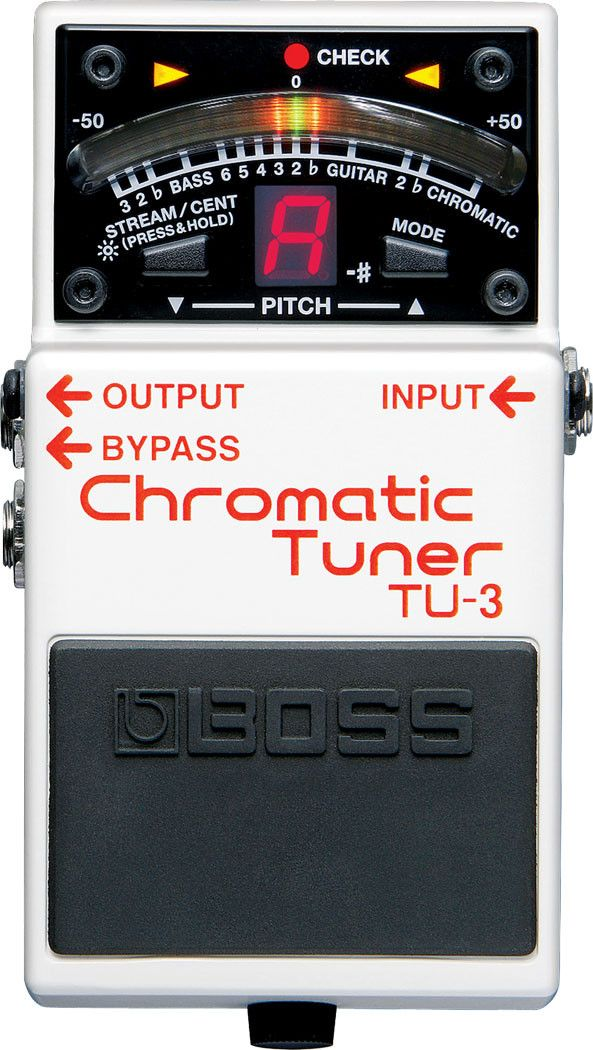 Boss TU-3 Chromatic Tuner The world's top-selling stage tuner, the BOSS TU-2, evolves and improves with the debut of the new TU-3. Housed in a tank-tough BOSS stompbox body, the TU-3 features a smooth