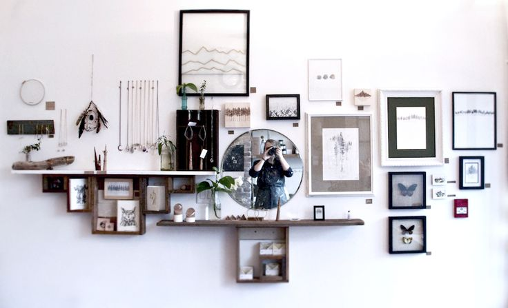 If our walls could talk... TROUT & CO. Crafted and Curated Goods #vancouver #shop #art #butterflies #display #handmade