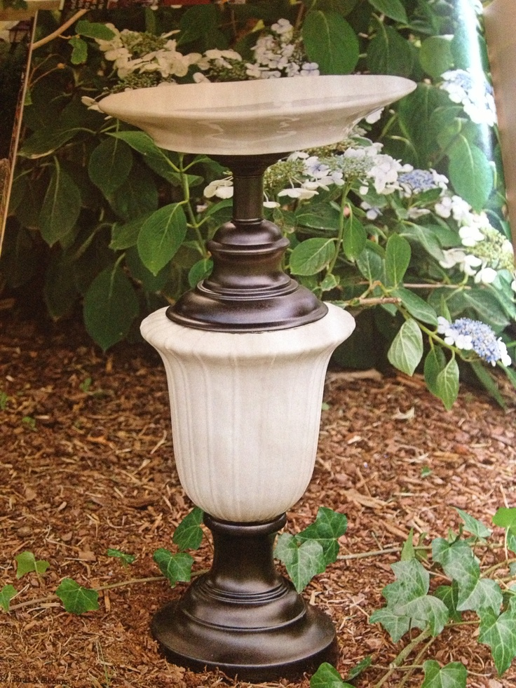 7 best Upcycled vintage lamp to bird bath images on ...