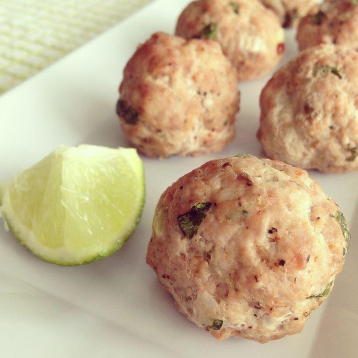 Paleo Cilantro Lime Chorizo Meatballs from @Taylor | Taylor Made It Paleo