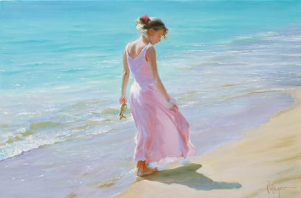 Pretty in Pink, Vladimir Volegov   Painting... Interesting composition... and it works.