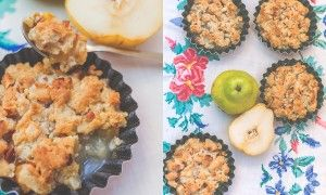 Творожные тарталетки с грушами. Всего 20 мин. и отличный завтрак у вас на столе. #рецепт #pears #груши #десерт #tartalette #dessert #yammy #foodphoto #творог