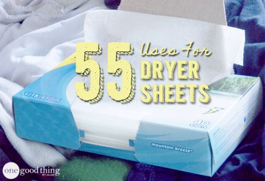 Clean, craft, de-static, and more! So many uses for dryer sheets besides putting them in the dryer :-)