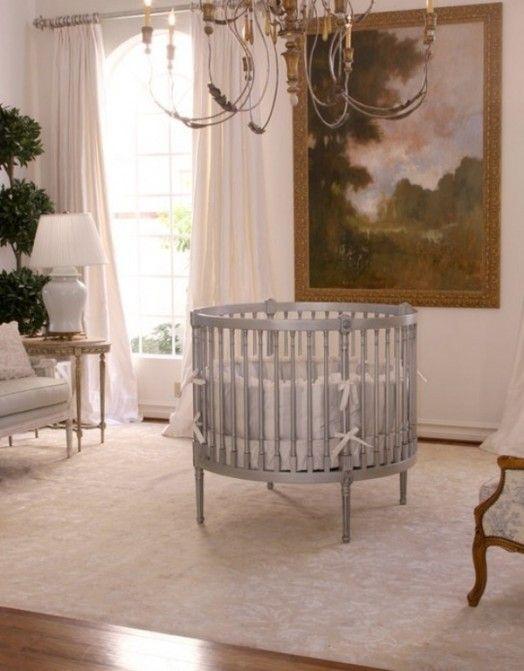 french style round baby crib