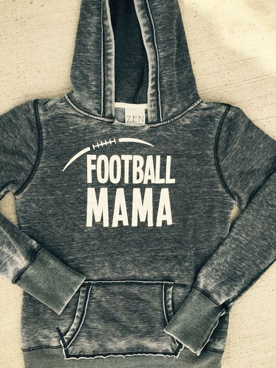 Football Mama Hoodiefootball mommom giftfootball by MAKKdesigns