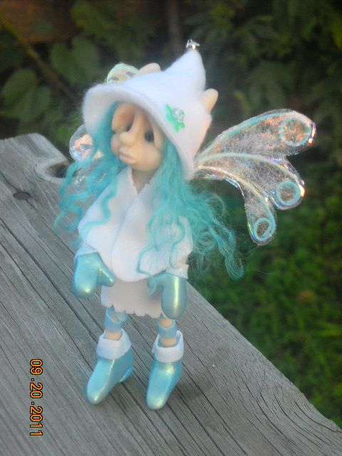 "*POLYMER CLAY ~ OOAK Hand Sculpted Polymer Clay Winter Fairie ""Bliss"" Fantasy Art Doll by Woodlandkreatures, via Flickr"
