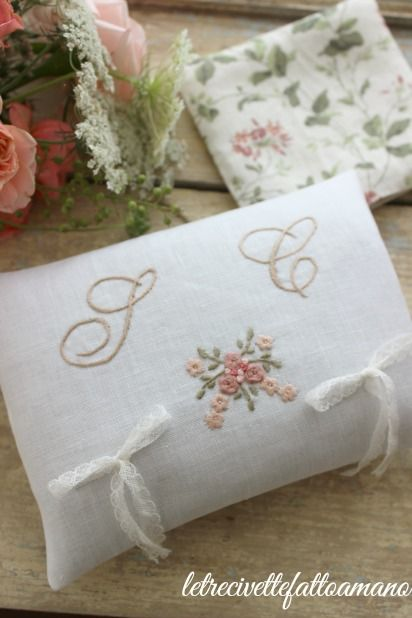 letrecivette - wedding day ring pillow cuscino fedi