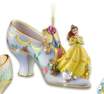Disney Beauty And The Beast Belle Shoe Ornament