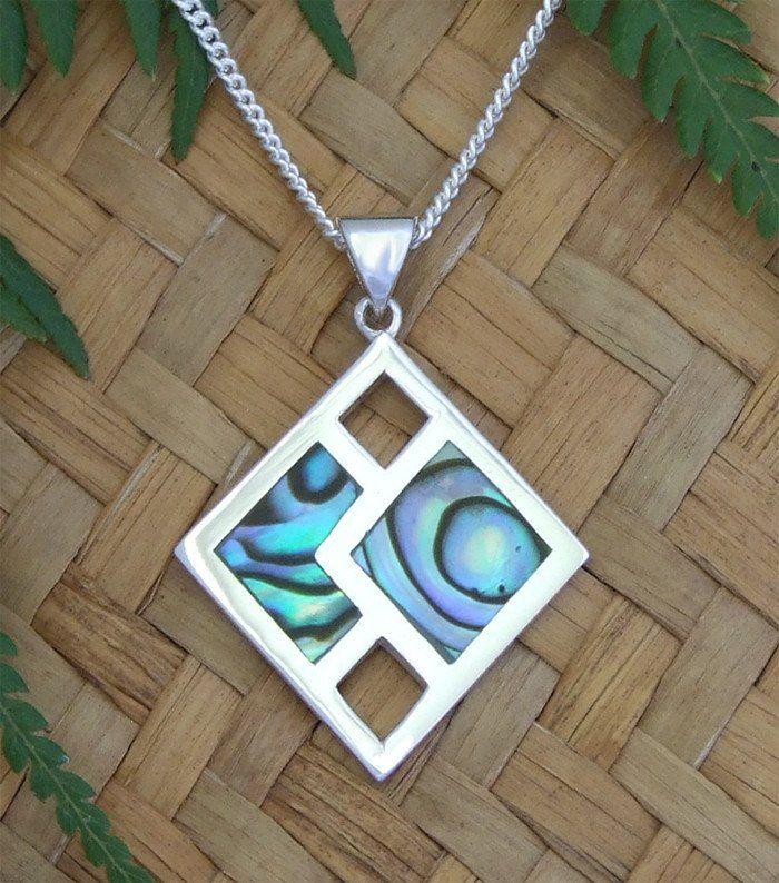Paua Shell Dream Weaver Pendant and Chain