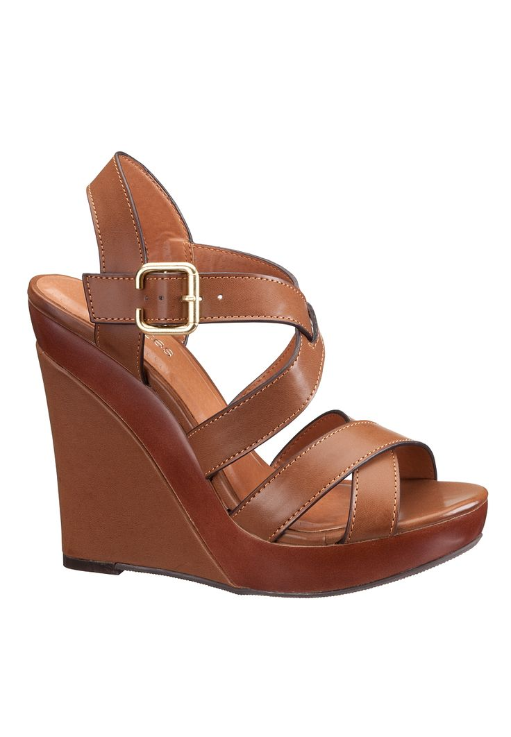 Ava Cross Strap Wedge Sandal - maurices.com - Graduation shoes match options 1 or 2