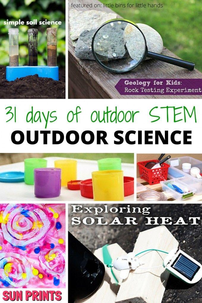 outdoor science activities for kids summer STEM