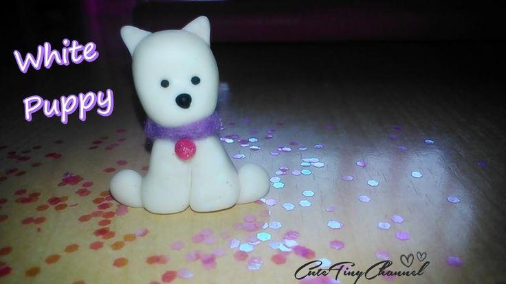 Tutorial: White Puppy Polymer Clay Miniature / Cachorro Blanco en Miniatura de Arcilla Polimérica