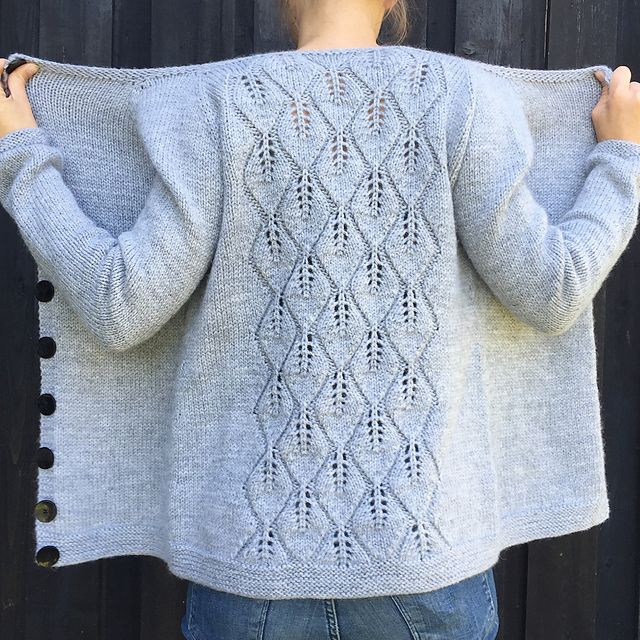Ravelry: Løvfallkardigan / Falling Leaves Cardigan pattern by Strikkelis                                                                                                                                                                                 More