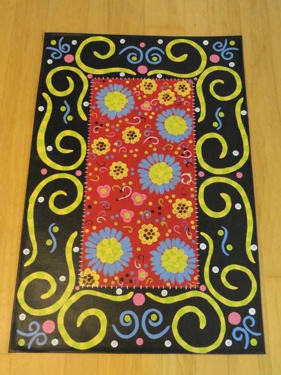 17 Best Ideas About Painted Floor Cloths On Pinterest