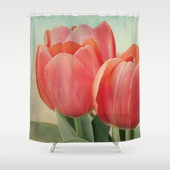 Vintage tulips(4) Shower Curtain
