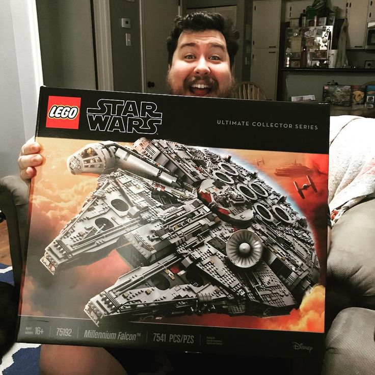 Look what came today!!! This box is massive. Its the biggest Lego set ever. 7541 pieces. When the doorbell rang with the delivery I ran downstairs like it was Christmas morning. #lego #starwars #milleniumfalcon #brick #bricklove #legos #legoset #building #saturdaymorning #hobby #allofmyfreetime #newproject