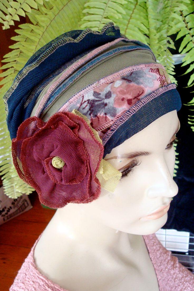 womens Elegant  headband Headwrap headwear headcover headscarf  bohemian chemo hat flapper 1920s. $45.00, via Etsy. GypsyLoveHeadbands