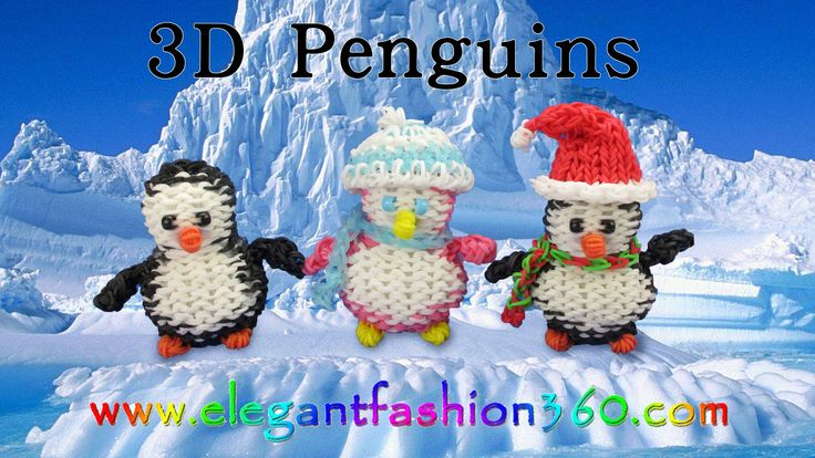 Rainbow Loom Penguin 3D Charms - How to Loom Bands tutorial by Elegant Fashion 360.