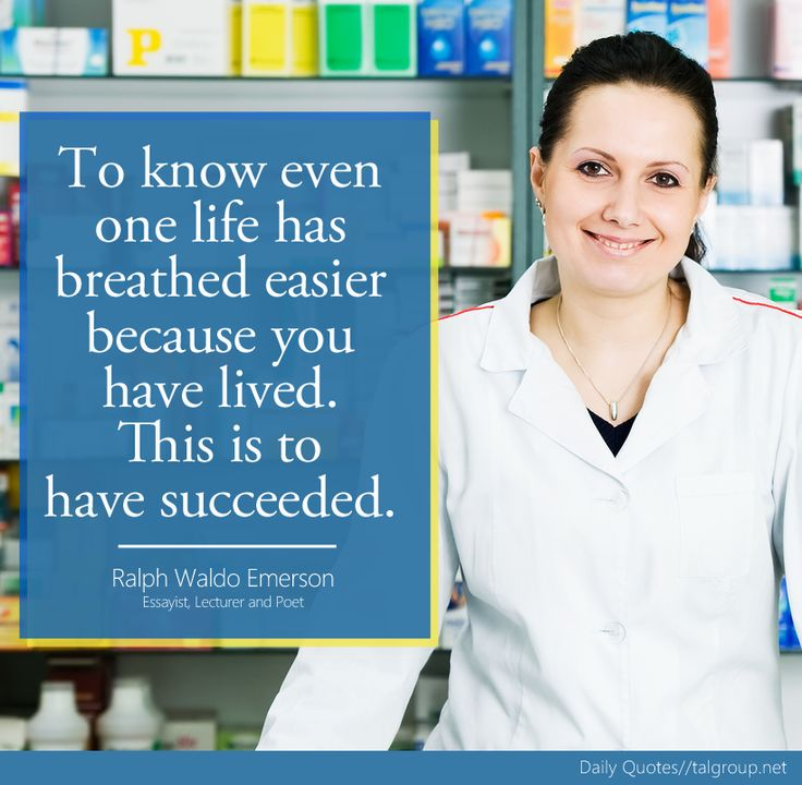 """""""To know even one life has breathed easier because you have lived. This is to have succeeded."""" Ralph Waldo Emerson, Essayist, Lecturer & Poet #Quote #Pharmacy #Health #Inspire #healthcare #TALGroup #LoveWhereYouWork"""