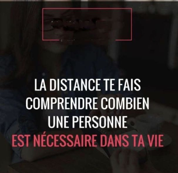 Distance makes you understand how a person is necessary in your life.