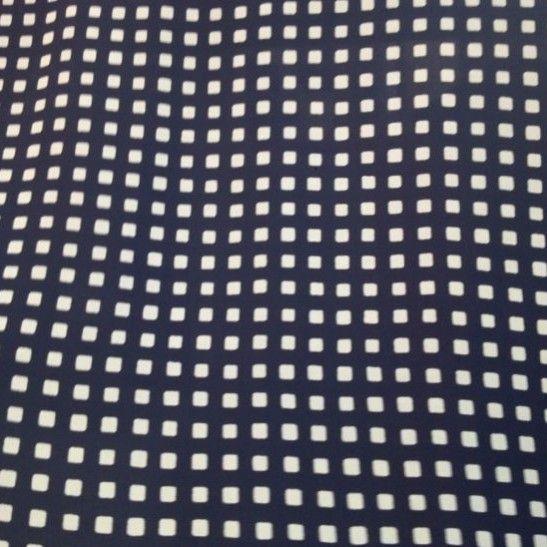 Windows in the Night Silk Crepe de Chine - Navy/Natural - Gorgeous FabricsGorgeous Fabrics
