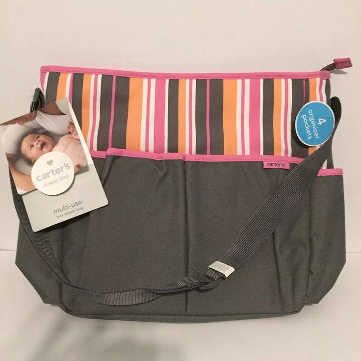 pañalera carters diaper bag 100% original con cambiador