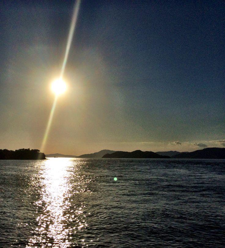 香川 瀬戸大橋の太陽