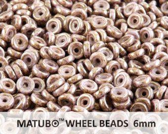 10 gr (ab.80pcs) 6mm rueda MATUBO abalorios, cristal checo presiona, Senegal marrón violeta (WB010)