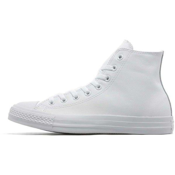 Converse All Star Hi Mono ($79) ❤ liked on Polyvore featuring men's fashion, men's shoes, men's sneakers, mens shoes, mens sneakers, g star mens shoes, mens wide sneakers and mens cap toe shoes