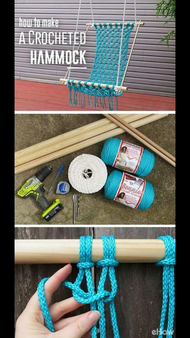 Make a crocheted hammock!