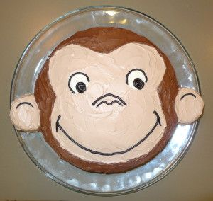 P1080207 e1378006805979 300x284 How To Make A Curious George Birthday Cake