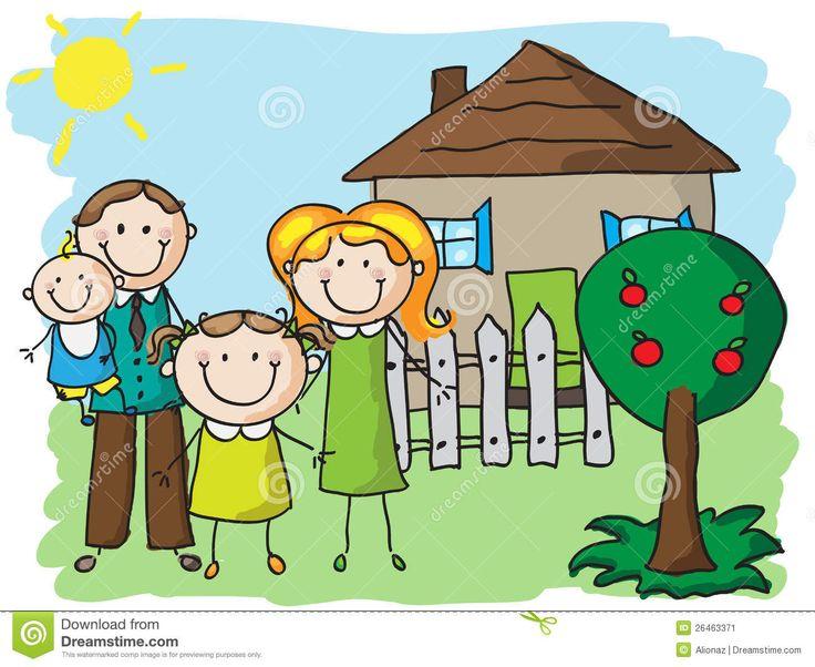 ilustraciones la casa y familia - Buscar con Google