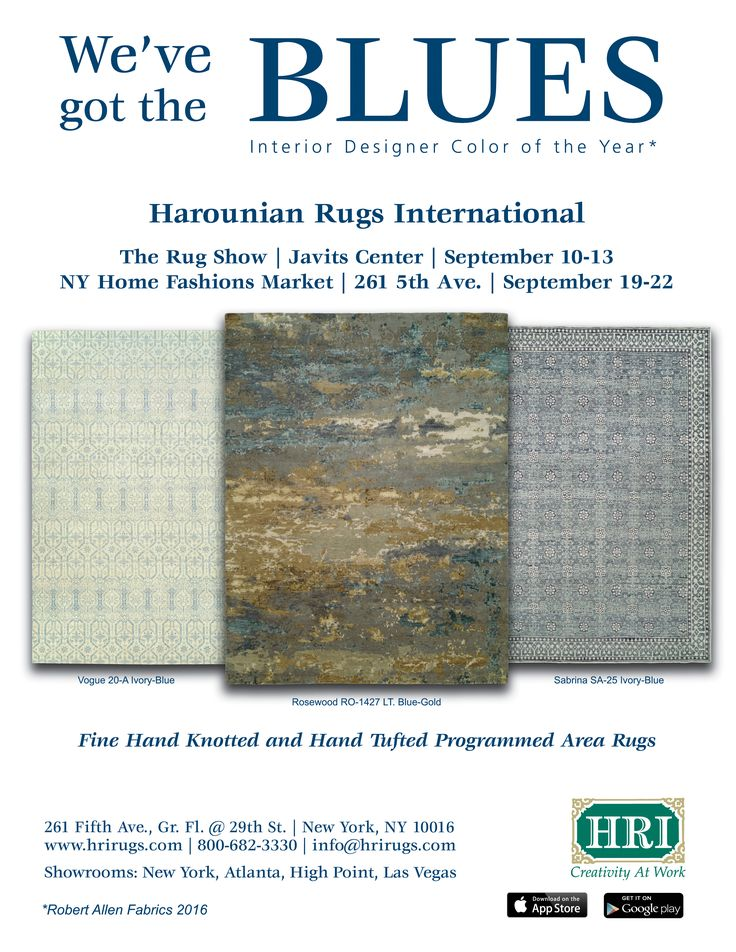 Visit Hri During Ny Markets The Rug Show Javits Convention Center Booth 213