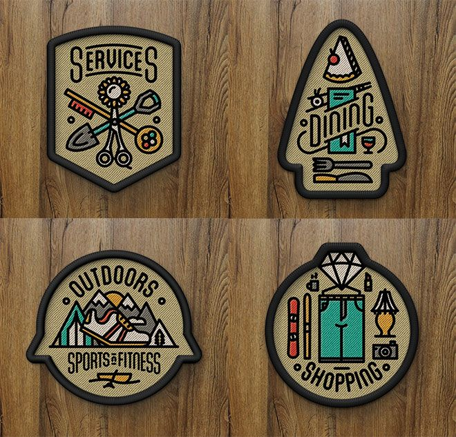 Showcase Of 40 Creative Embroidered Patch Designs Patch Design Retro Logos Illustrator Tutorials Logo