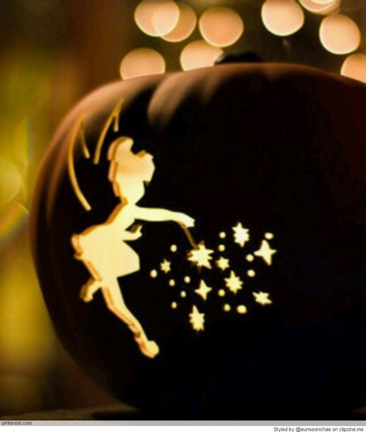 Best  Tinkerbell Pumpkin Template Ideas Only On