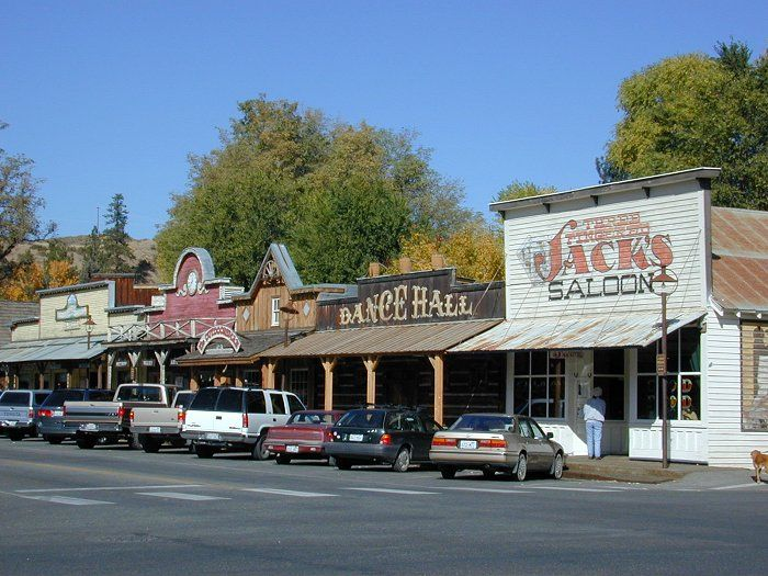 Winthrop, Washington.   The place is done up in the old west style of the silver mining days.