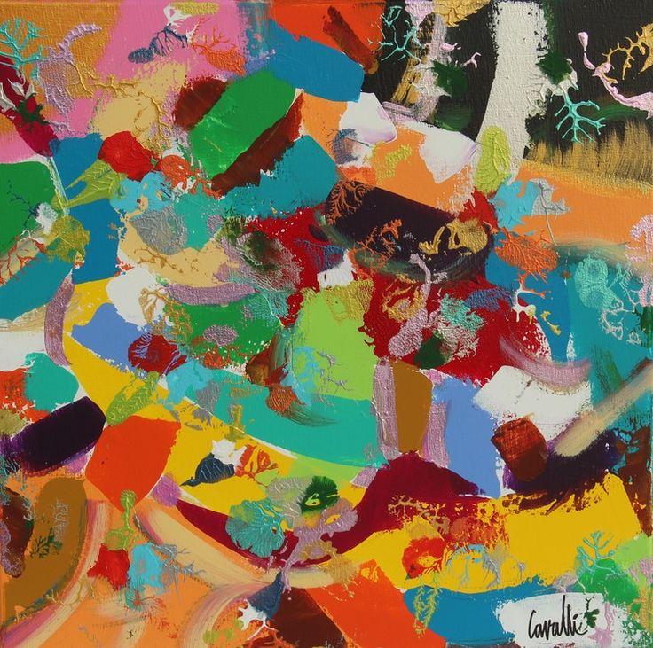 2015 dernière - Peinture,  50x50 cm ©2016 par Pascal Cavalli -                                        Art abstrait, Art abstrait