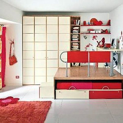 Estrade lit lit estrade pinterest hauteur bricoler for Relooking chambre parents