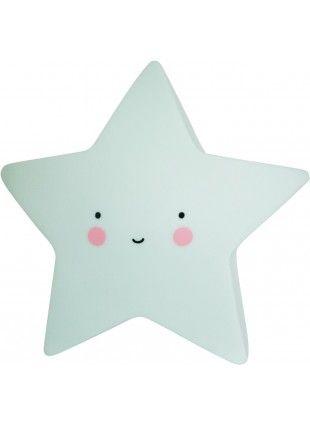 A Little Lovely Company Nachtlicht Stern Mini Mint