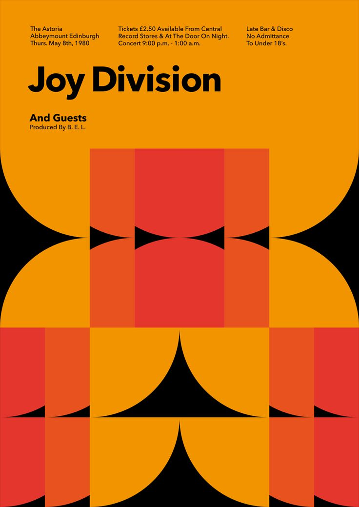 joy division gig poster - Google Search