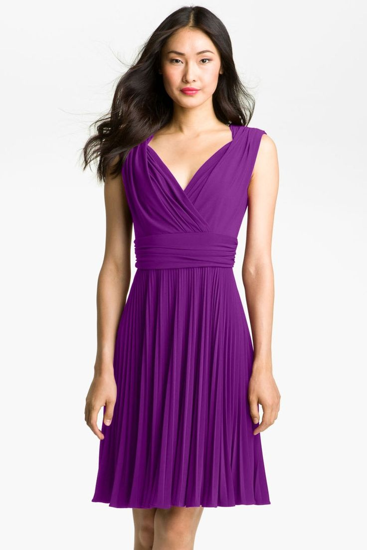 Pleated Jersey Fit & Flare Dress by Ivy & Blu on @nordstrom_rack.
