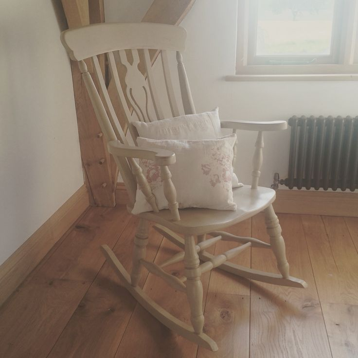 x Sold x Rocking chair painted using Annie Sloan's Country Grey. x