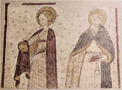 Affresco del XV secolo. #romanico #Lomellina #affresco #storia #tradizione