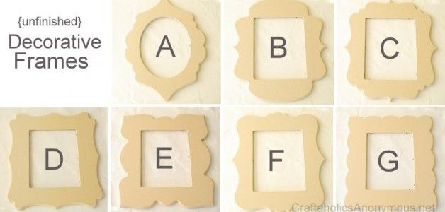 decorative letter frames