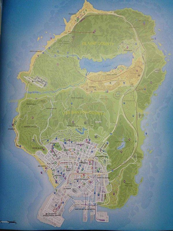 gameLib - Notícia : Grand Theft Auto 5 para Playstation 3 : [Vazou] Eis o mapa de Los Santos do GTA 5!