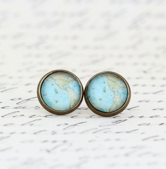 Hey, I found this really awesome Etsy listing at https://www.etsy.com/listing/175872761/map-earrings-map-jewelry-vintage-map