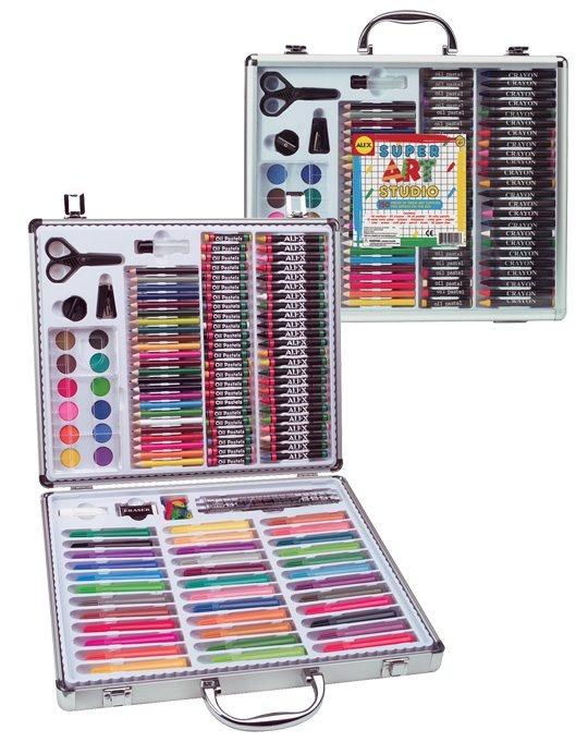 Super Art Studio | 140 pieces | Aluminum Case with Clear Plastic Cover | shopAGO 2012 Gift Guide