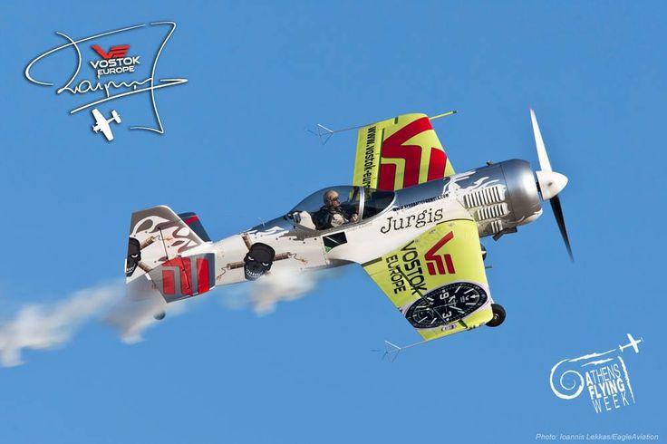Jurgis Kairys at Athens Flying Week #JurgisKairys #VostokEurope #VichosWatches #aviation #pilot #aviator #AthensFlyingWeek