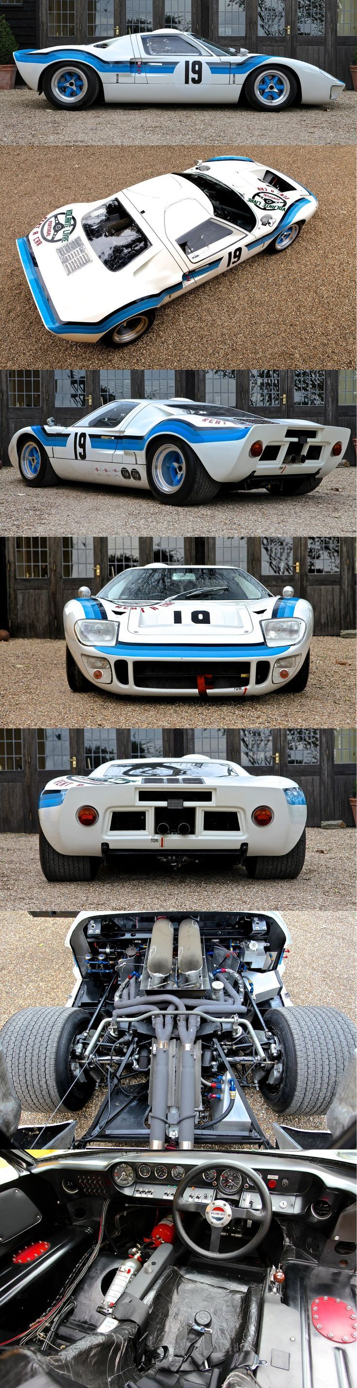The 1969 Ford GT40 Mk 1 you see here was one of the first generation of cars sold to private teams and individuals to compete in both local and international events. The Ford GT40 is an British designed and built endurance racer that was developed with the sole purpose of taking the fight to Ferrari.